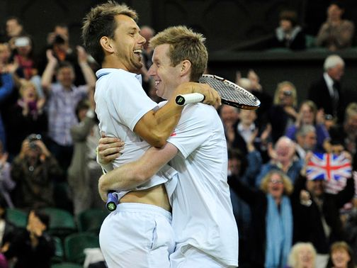 Nielsen and Marray celebrate Wimbledon success.