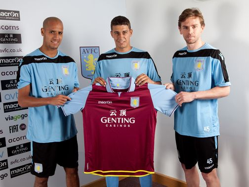 Matt Lowton (centre): Completes Villa move