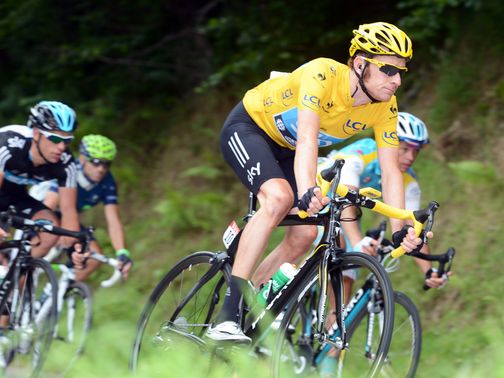Bradley Wiggins: Leads the Tour de France