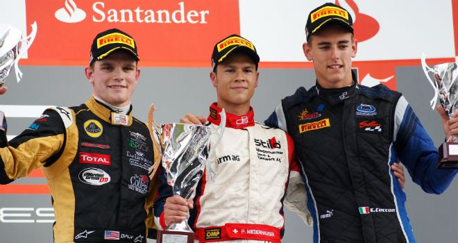 The Race 1 podium (Image: GP3 Series Media)