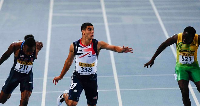 Adam Gemili: managed a championship record and a personal best in the final