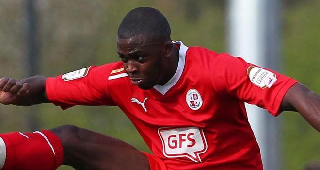 Hope Akpan: Suspended for Crawley