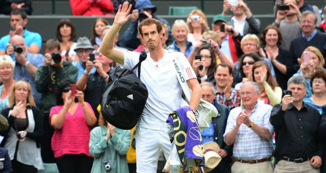Murray: faces the toughest quarter-final opponent of all the favourites