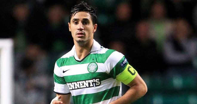 Beram Kayal: The Celtic man made just one appearance as a sub since damaging his ankle in a 50-50 challenge with Lee McCulloch in December