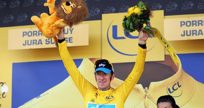 Bradley Wiggins: Claimed his first Tour stage win with a fantastic show of strength