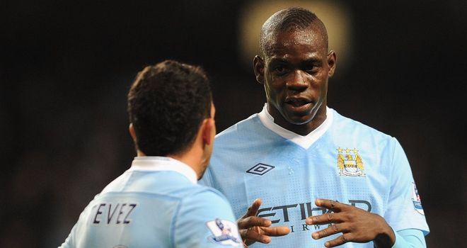 Carlos Tevez and Mario Balotelli: Set to start for Manchester City in the Capital One Cup