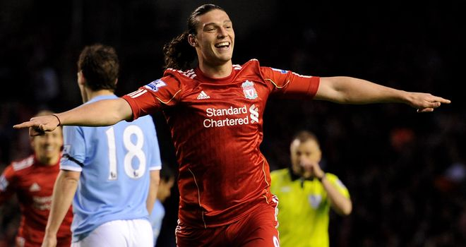 Andy Carroll: The striker has been linked with a 17million move to West Ham United