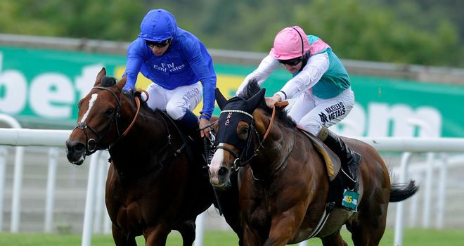 Encke (left): On target for the Ladbrokes St Leger