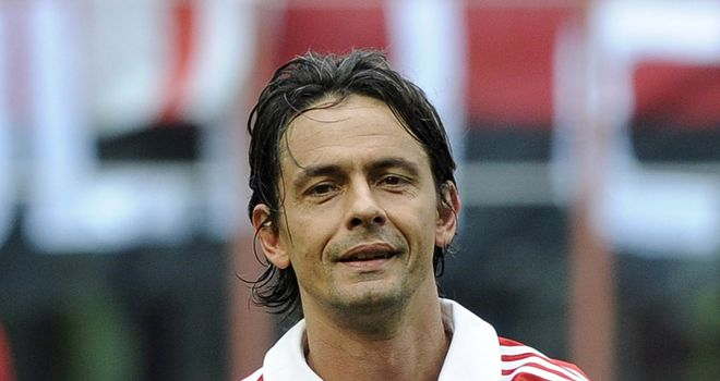 Filippo Inzaghi: Has left AC Milan and has been linked with Australian side Western Sydney Wanderers FC