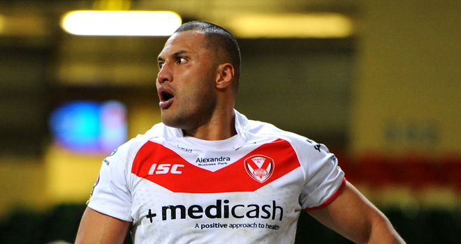 Francis Meli: Two tries for St Helens