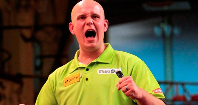 Van Gerwen: heavily outscored his opponent