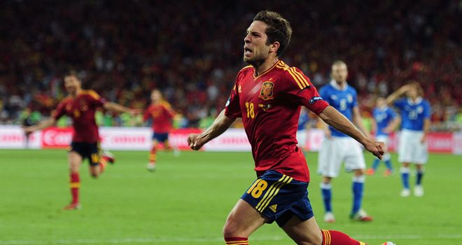 Jordi Alba: Spain international had a fantastic and successful Euro 2012 campaign