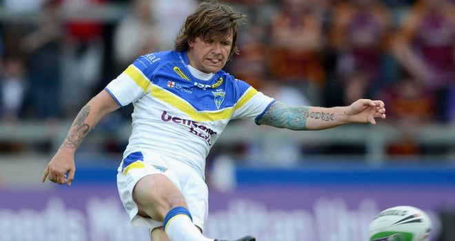 Boost: Briers was among 10 players to get a new contract at Warrington this week