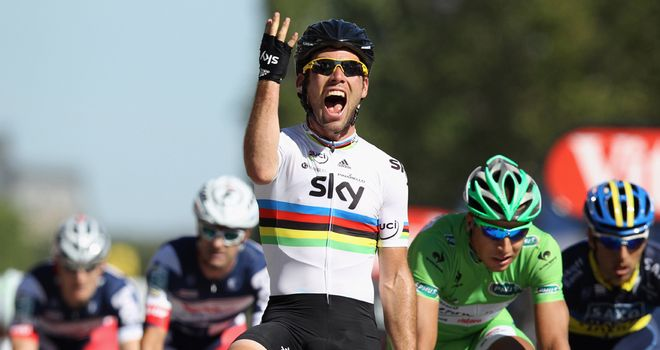 Mark Cavendish: Won for the fourth year in a row on the Champs-Elysees