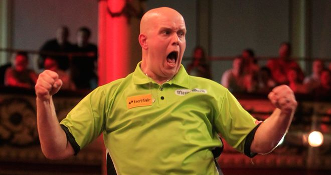Michael van Gerwen: Defeated world champion Lewis in Dublin