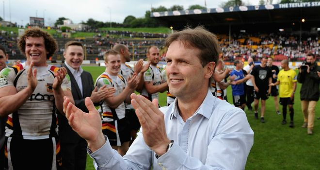 Mick Potter: Willing to continue working at Bradford for free