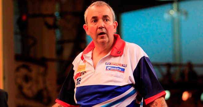 Phil Taylor: comfortably cleared his first hurdle at the Citywest Hotel in Dublin