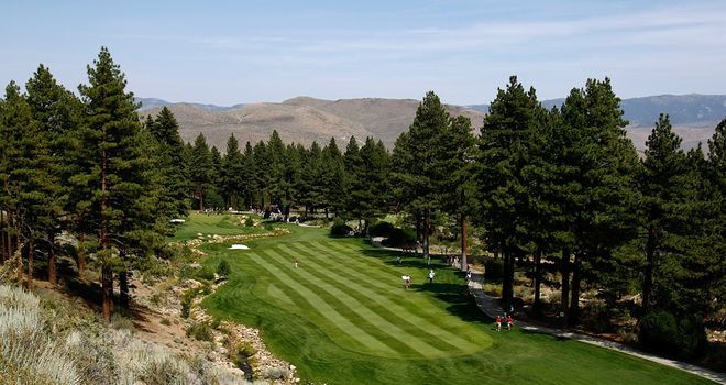 A scenic view of the 8th hole