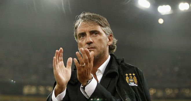 Roberto Mancini: Manchester City manager happy with his striking options