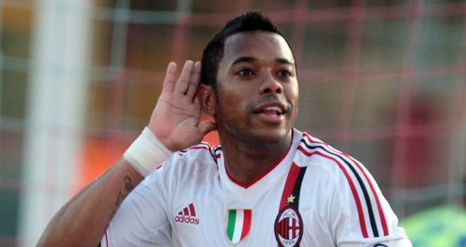 Robinho: His dad expects him to remain with AC Milan until the end of his contract