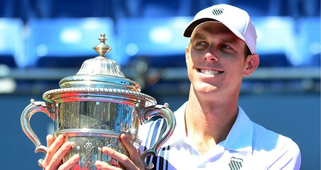 Sam Querrey: Sped to third Farmers Classic title in space of four years