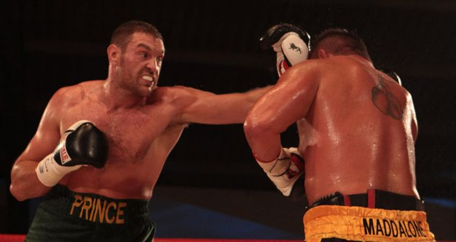 Tyson Fury: Beat Vinny Maddalone on Saturday to maintain his unbeaten record