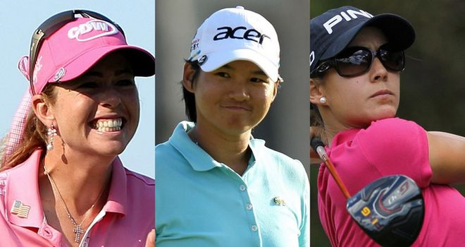 (L to R) 2010 champion Paula Creamer, world number one Yani Tseng and the in-form Azahara Munoz