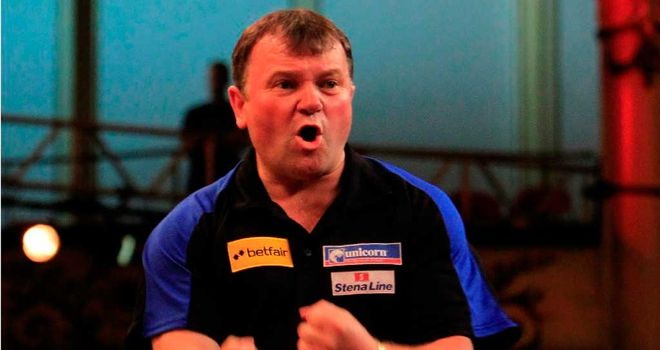 Terry Jenkins: defeated world champion Adrian Lewis 16-12 on Friday
