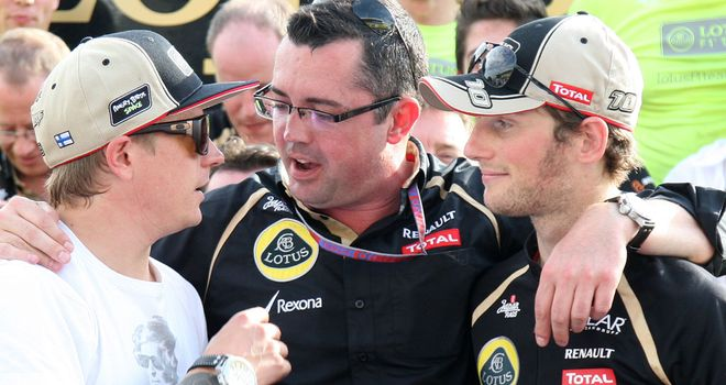 Eric Boullier: Says driver line-up will stay the same for 2013 season
