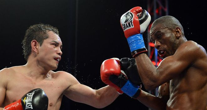 Nonito Donaire: lands a left hook during his victory at the Home Depot Center