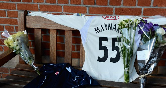 Tributes to Tom Maynard following his death in June last year
