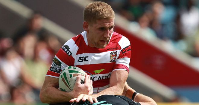 Sam Tomkins: made the claim during Wigan's Super League win at the DW Stadium