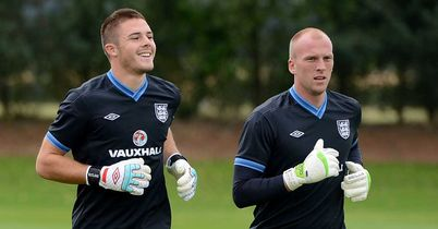 John Ruddy: Battling Birmingham's Jack Butland (left) to be England's No.2 keeper