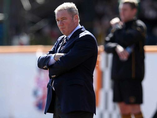 Ally McCoist's side will host Motherwell