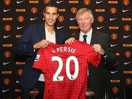 Van Persie: Making the headlines