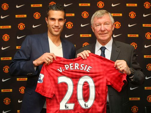 Van Persie shows off his new colours