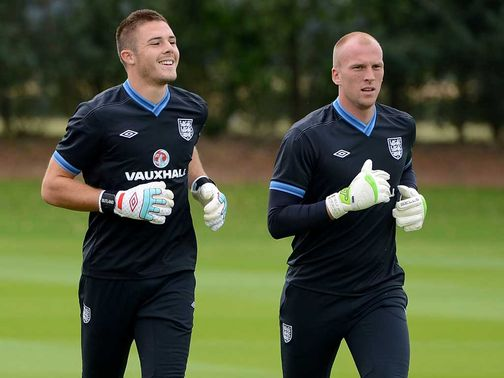 Jack Butland (left): Rated at £18million by his club manager