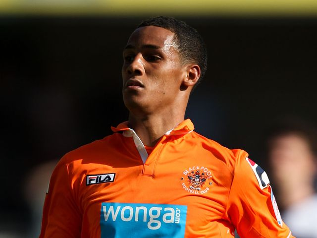 Tom Ince once again starred for Blackpool