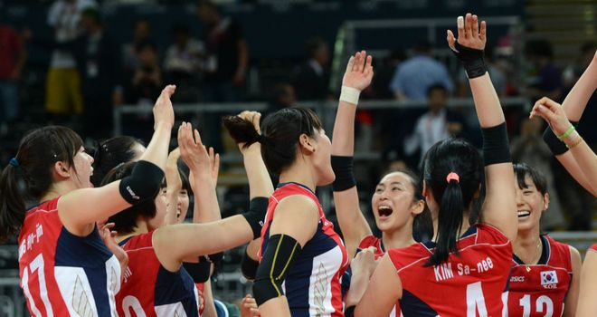 South Korea celebrate their quarter-final success