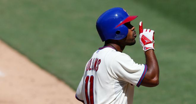 Jimmy Rollins: His two-run homer led Philadelphia to victory