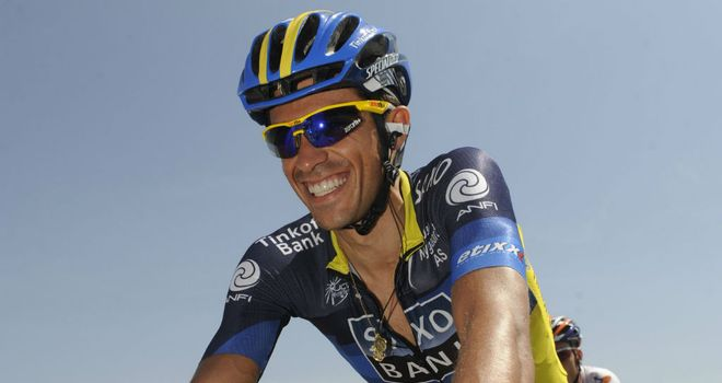 Alberto Contador: Claimed victory on stage six