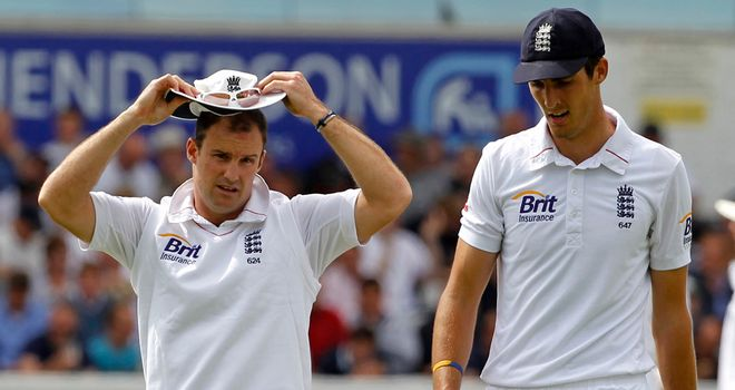 Andrew Strauss (left) and Steven Finn
