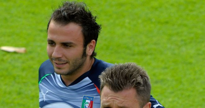 Cassano and Pazzini: Poised to swap between neighbouring clubs