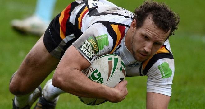 Stil fighting: Kearney and his colleagues continue to battle for the Bulls