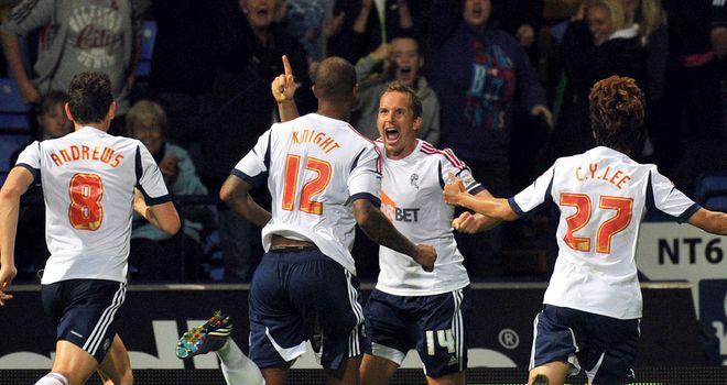 Davies: Celebrates opening goal