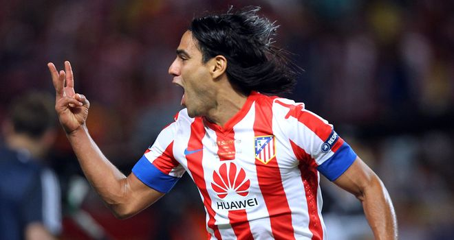 Radamel Falcao: Linked with a  move to Chelsea but Atletico are not thought to have received a bid