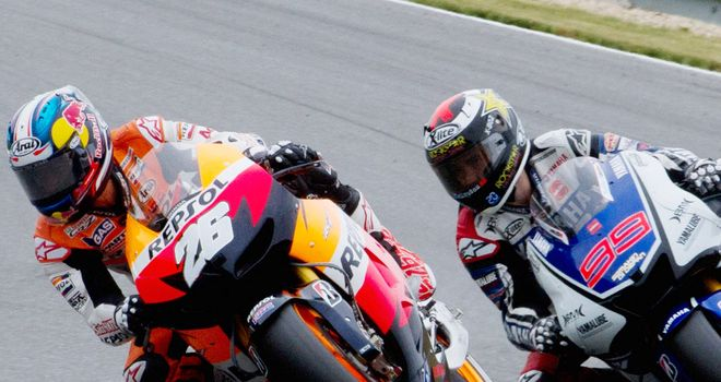 Dani Pedrosa and Jorge Lorenzo: Did not not set a lap time on Friday