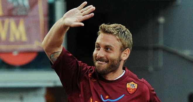 Daniele De Rossi: The Roma midfielder has waved goodbye to a bumper payday at Manchester City