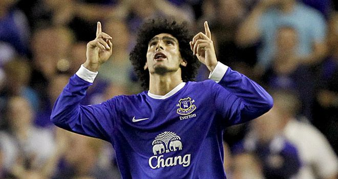 Marouane Fellaini: A fantastic performance saw him net the match winner