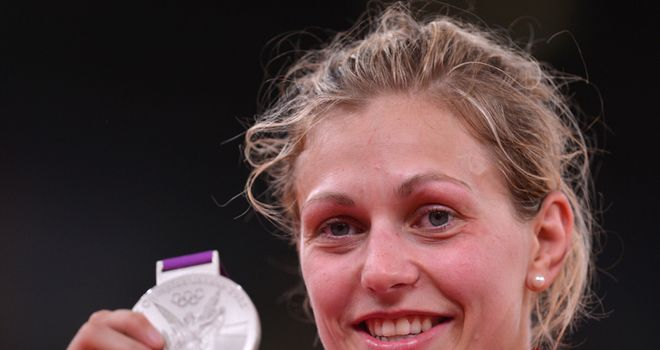 Gemma Gibbons: Took silver with a broken thumb